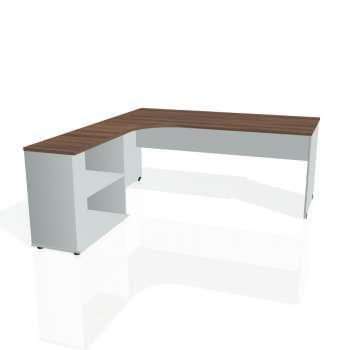 Psací stůl Hobis GATE GE 1800 H pravý, ořech/šedá