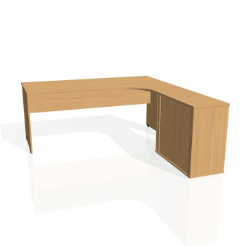 Psací stůl Hobis GATE GE 1800 HR levý, buk/buk