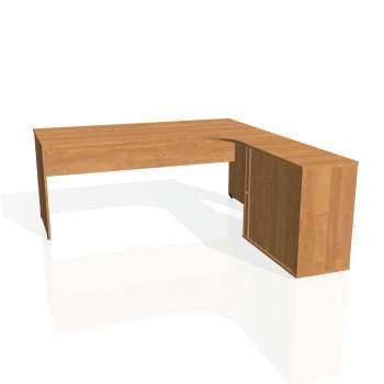 Psací stůl Hobis GATE GE 1800 HR levý, olše/olše