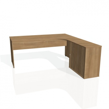 Psací stůl Hobis GATE GE 1800 HR levý, višeň/višeň