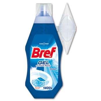 WC gel Bref - moře, se zásobníkem, 360 ml