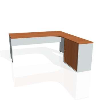 Psací stůl Hobis GATE GE 1800 HR levý, třešeň/šedá