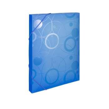 Plastový box s gumičkou NEO COLORI - A4, modrý