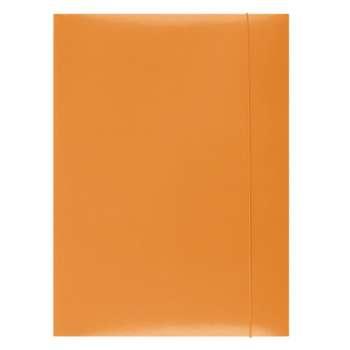 Desky papírové s gumičkou A4, oranžové