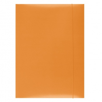 Papírové desky s gumičkou A4, oranžové