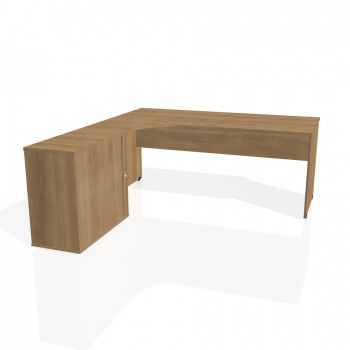 Psací stůl Hobis GATE GE 1800 HR pravý, višeň/višeň