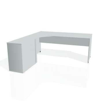 Psací stůl Hobis GATE GE 1800 HR pravý, šedá/šedá