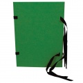 Prešpánové spisové desky s tkanicí Hit Office - A4, zelené, 1 ks
