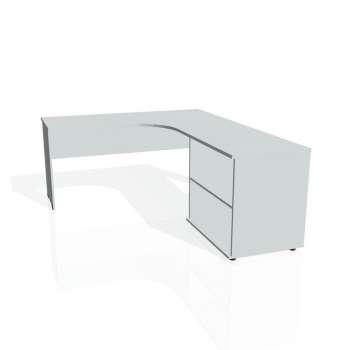 Psací stůl Hobis GATE GE 60 H levý, šedá/šedá