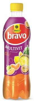 Rauch Bravo ovocný nápoj - multivitamin, 12 x 0,5 l