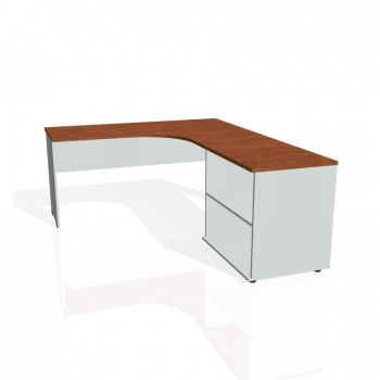 Psací stůl Hobis GATE GE 60 H levý, calvados/šedá