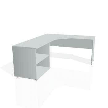 Psací stůl Hobis GATE GE 60 H pravý, šedá/šedá