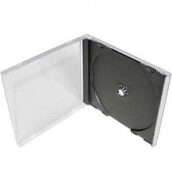 Box na CD/DVD Standard, transparentní nebo černý, 1 ks
