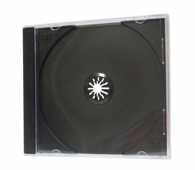 Plastová krabička na CD/DVD - Slim, mix barev