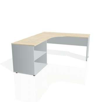 Psací stůl Hobis GATE GE 60 H pravý, akát/šedá