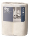Papírové utěrky Tork - bílé, průměr 10,7 cm, 2 role