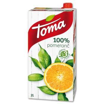 Džus Toma - pomeranč, 100%, 2 l