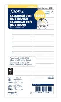 Náplň pro FILOFAX A6 kalendář denní 2017