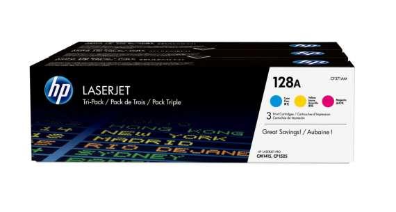 Toner HP CF371AM,  CMY - trojbalení