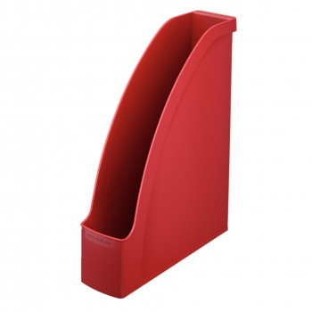 Stojan na časopisy LEITZ PLUS - plastový, červená