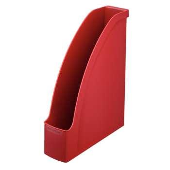 Stojan na časopisy LEITZ PLUS - plastový, červený
