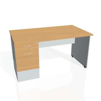 Psací stůl Hobis GATE GSK 1400 22, buk/šedá