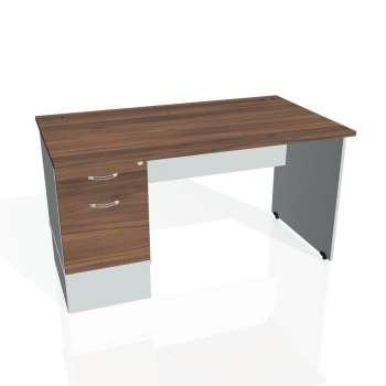Psací stůl Hobis GATE GSK 1400 22, ořech/šedá
