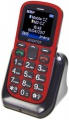 Aligator A321 Senior Dual SIM, červeno-černá + nabíjecí stojánek