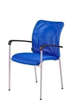 Konferenční židle Duell s područkami - modrá
