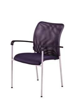 Konferenční židle Duell s područkami - šedá