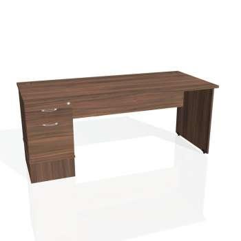Psací stůl Hobis GATE GSK 1800 22, ořech/ořech