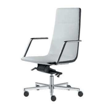 Kancelářské křeslo Harmony - černá/bílá , kůže