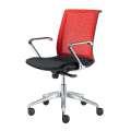 Kancelářská židle Lyra Net A - černá/červená