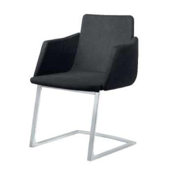 Konferenční židle Harmony - černá, kůže