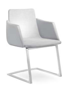 Konferenční židle Harmony - bílá, kůže