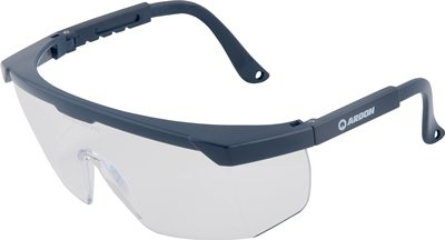 Ochranné brýle V2011  - čiré, tmavě modré rámečky