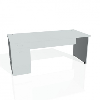 Psací stůl Hobis GATE GSK 1800 22, šedá/šedá