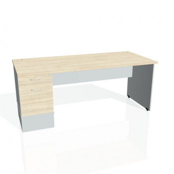 Psací stůl Hobis GATE GSK 1800 22, akát/šedá