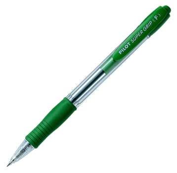 Kuličkové pero Pilot Super Grip - zelená náplň, 0,27 mm