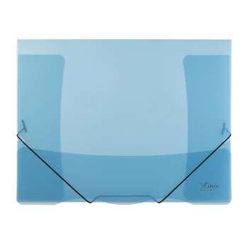 Desky s chlopněmi a gumičkou A4, modrá , 5 ks