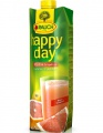 Džus HAPPY DAY - růžový grep s dužinou, 1 l