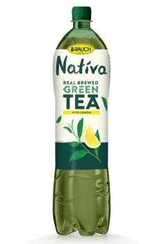 Ledový čaj Nativa - zelený s citronem, 6 x 1,5 l