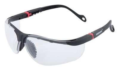Ochranné brýle M1000  - čiré, černé rámečky