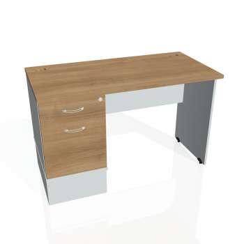 Psací stůl Hobis GATE GEK 1200 22, višeň/šedá