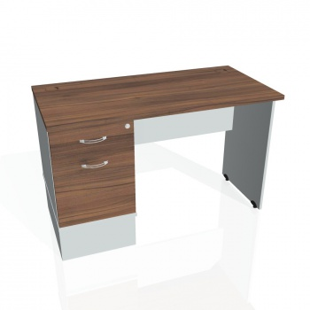 Psací stůl Hobis GATE GEK 1200 22, ořech/šedá