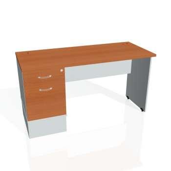 Psací stůl Hobis GATE GEK 1400 22, třešeň/šedá