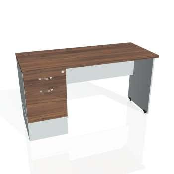Psací stůl Hobis GATE GEK 1400 22, ořech/šedá