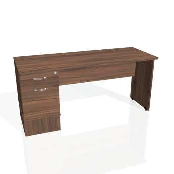 Psací stůl Hobis GATE GEK 1600 22, ořech/ořech