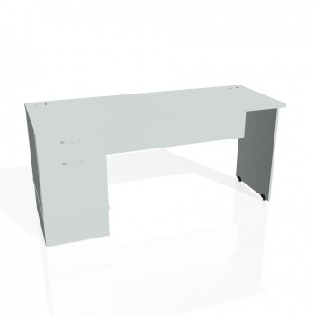 Psací stůl Hobis GATE GEK 1600 22, šedá/šedá