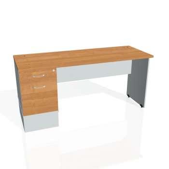 Psací stůl Hobis GATE GEK 1600 22, olše/šedá
